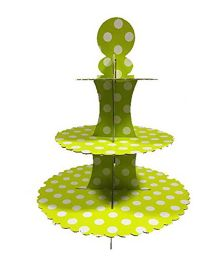 PrettyurParty Green Polka Dots Cupcake Stands