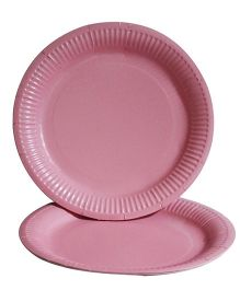 Prettyurparty Paper Plates Pack of 10 - Baby Pink