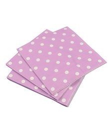 Prettyurparty Polka Dots Paper Napkins Pack of 20 - Light Purple