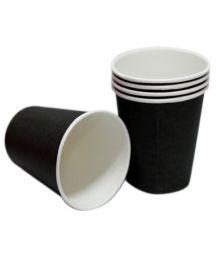 Prettyurparty Plain Paper Cups Pack of 10 Black - 266ml