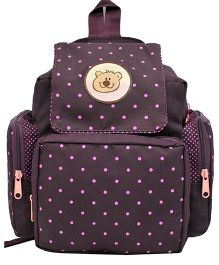 Star Gear Polka Mushroom Backpack Wine & Pink - 10 Inches