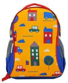 Star Gear Locomotive Backpack Royal Blue & Yellow - 14 Inches