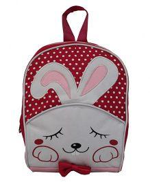 Star Gear Bunny Print Bag Maroon - 8 Inches