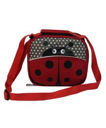 Star Gear Beetle Lunch Box Bag Maroon And Black - 7 Inches