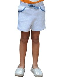 Snowflakes Solid Casual Shorts - Off White