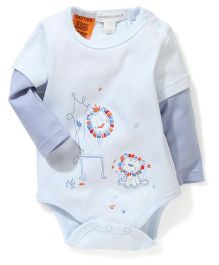Pumpkin Patch Doctor Style Full Sleeves Onesies - Light Blue