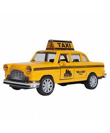 Adraxx Die Cast Pullback Toy Car - Yellow