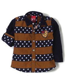 Noddy Original Clothing Full Sleeves Shirt - Brown and Navy