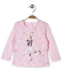Pumpkin Patch Party Wear Top Puppy Print - Pink