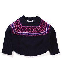 Pumpkin Patch Fairisle Knit Sweater - Dark Blue