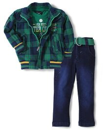 Noddy 3 Piece Clothing Combo Set - Green And Navy Blue