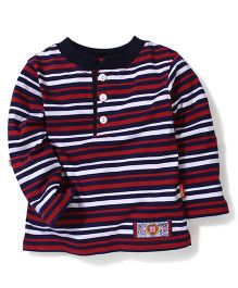 Kidsplanet Round Neck Striped T-Shirt - Multicolor