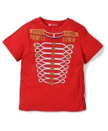 Kidsplanet Half Sleeves Printed T-Shirt - Red