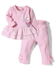Pumpkin Patch Frock Style Top And Leggings Set - Pink