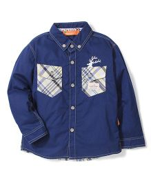Kidsplanet Full Sleeves Shirt Two Pockets - Dark Blue