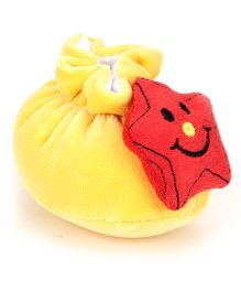 Cute Walk Booties Star Applique - Yellow Red