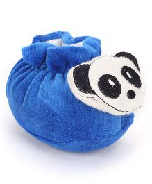 Cute Walk Booties Panda Applique - Royal Blue White