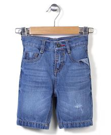 Hallo  Heidi Denim Shorts - Blue