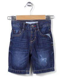 Hallo  Heidi Denim Shorts - Navy Blue