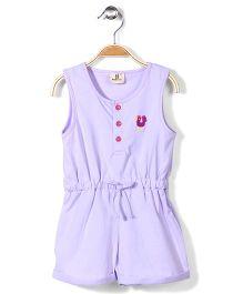 Hallo Heidi Sleeveless Jumpsuit - Purple