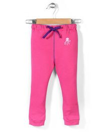 Hallo Heidi Solid Color Track Pant - Pink