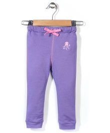 Hallo Heidi Solid Color Track Pant - Purple