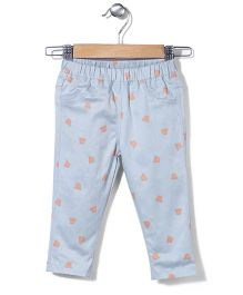 Jolly Jilla Full Length Pant Hat Print - Light Blue