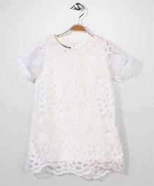Jolly Jilla Half Sleeves Top Floral - White