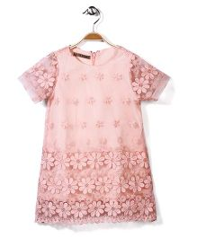 Jolly Jilla Half Sleeves Top Floral - Peach