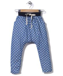 Jolly Jilla Drawstring Legging Polka Dots - Blue