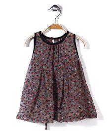 Jolly Jilla Flower Print Dress - Grey