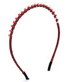 Stol'n Fabric Covered Hairband - Red