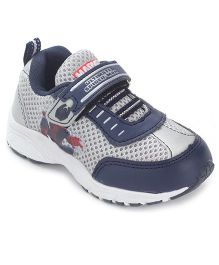 Spider Man Casual Shoes Velcro Closure - Grey Blue