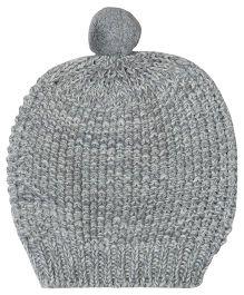Pluchi Ferb Knitted Cap - Grey & Ivory