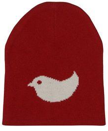 Pluchi Birdie Knitted Cap - Red & Ivory
