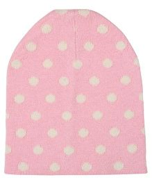 Pluchi Dottie Knitted Cap - Pink & Natural