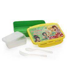 Disney Fairies Rectangular Lunch Box - Yellow Green
