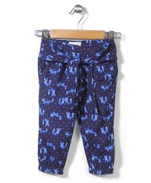 Pumpkin Patch Harem Pant Fox Print - Navy Blue