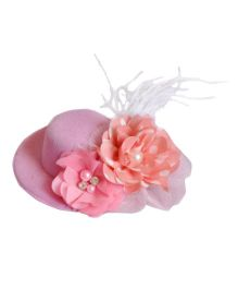 Hat Hair Clip - Pink