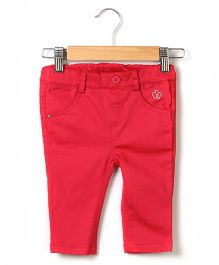 Beebay B Logo Cotton Trouser - Pink