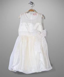 Little Coogie Party Dress - Off White