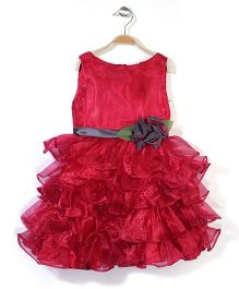 Little Coogie Party Dress - Red