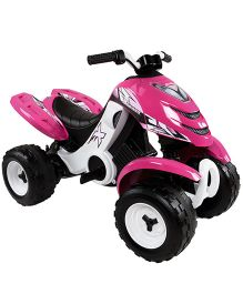 Smoby Quad Battery X Power Girl - Pink & Black