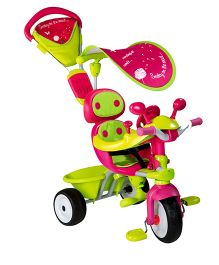 Smoby Baby Driver V Comfort Plus Canopy Pink Green - 434118
