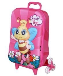 T-Bags 3D Bumble Bee Trolley Bag Pink - 12.2 Inches