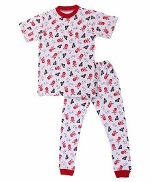 Pirate Print Organic Cotton Combo Set - White