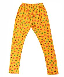 Paw Print Organic Cotton Leggings - Yellow