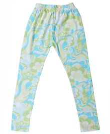 Printed Organic Cotton Leggings - Green