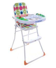 Sunbaby High Chair With Music Circle Print Multi Colour - SB-26M