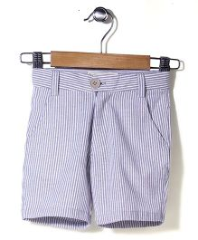 Bee Bee Striped Shorts - Grey